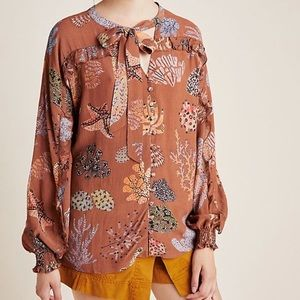 Anthropologie Imogen Buttondown Blouse
